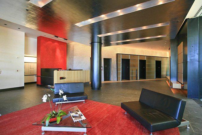 Modern Lobby with Door Man