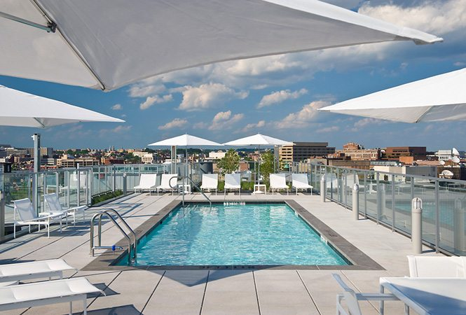 Rooftop pool at 22 West